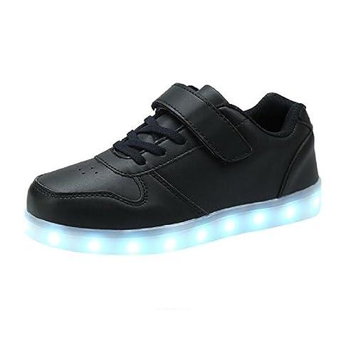 Bangbei LED con Luces Zapatillas de Deporte Luz Brillante USB 7 Colores Zapatos para niños Parpadeante Niños Niños Chicas Navidad Regalo de Año Nuevo: ...