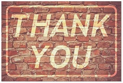 5-Pack 30x20 CGSignLab Thank You Ghost Aged Brick Perforated Window Decal