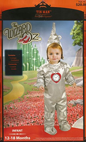 The Wizard of oz Tin Man Infant Costume Size 12-18 (Walmart Baby Costumes)