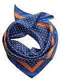 Elizabetta Men's Italian Silk Neckerchief Scarf, Large Bandana, 26'' Royal Blue