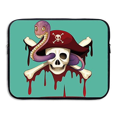 Computer Bag Laptop Case Slim Sleeve Pirate Skull Snake Waterproof 13-15In IPad Macbook