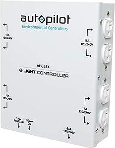 AutoPilot APCL8X 8-Light (120/240V) 60A High Power HID Controller 8000W 50A X-Plug