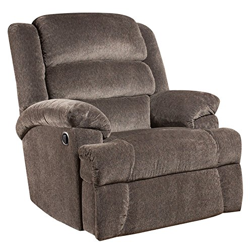 MFO Big and Tall 350 lb. Capacity Aynsley Charcoal Microfiber Recliner