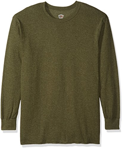 Duofold Men's Mid-Weight Crew Thermal Shirt Neck Thermal Shirt Sleepwear, Olive Heather, 2X Large ()