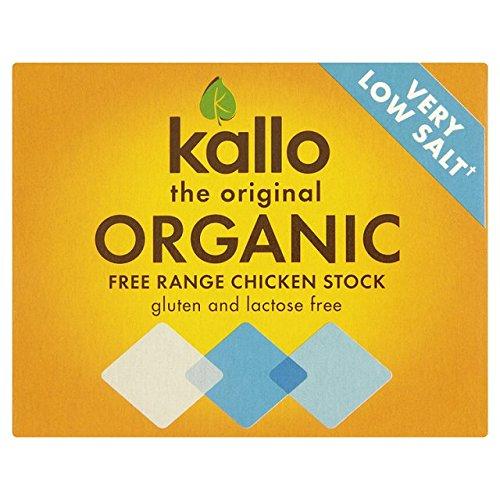 Kallo - Very Low Salt Organic Chicken Stock Cubes - 48g (Case of 15) by Kallo