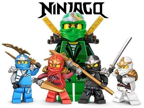 (Ninjago Lego Fighting Warriors 1/4 Sheet Edible Photo Birthday Cake Topper Frosting Sheet Personalized)