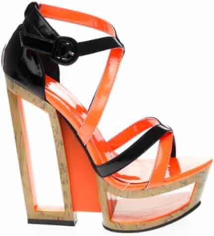9b61df4e6dd3 Beauty Heel Womens SHINE21 Open Toe High Heel Platform Wedge Sandal
