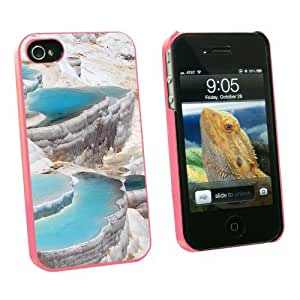 Graphics and More Turkey Turkish Pamukkale Hot Springs Terrace Pools - Snap On Hard Protective Case for Apple iPhone 4 4S - Pink - Carrying Case - Non-Retail Packaging - Pink