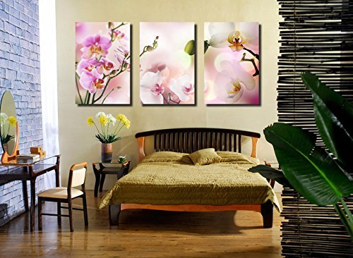 Spirit Up Art Large Pink Orchids Picture Painting