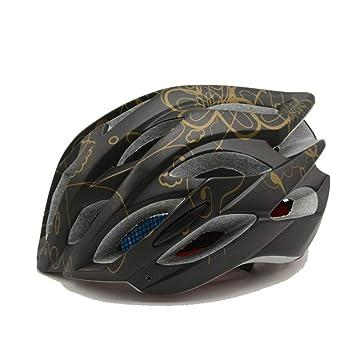 HTST Bicicleta con Cascos Ligeros Equipo Exterior Colorido Ligero multifunción Ciclismo Motocicleta protección Deluxe Casco,