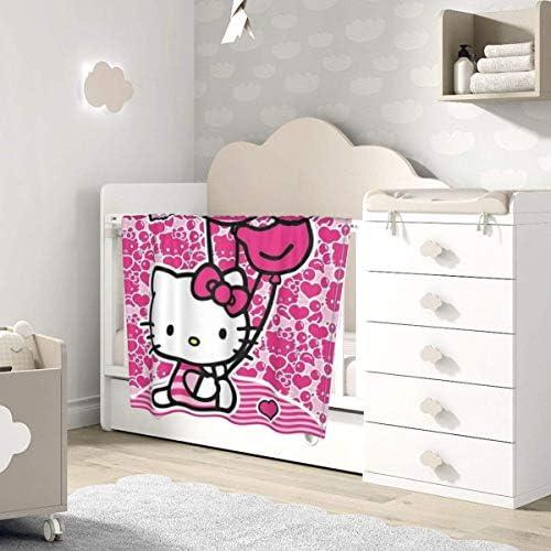 shihuainingxianruandans Couverture de bébé de Confort, Hello Kitty avec Couverture Chaude Douce de Ballon pour la Poussette de Nouveau-né Infantile Voyage en Plein air