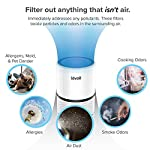 LEVOIT Air Purifier for Home Smokers Allergies and Pets Hair, True HEPA Filter, Quiet in Bedroom, Filtration System Cleaner Eliminators, Odor Smoke Dust Mold, Night Light, 2-Year Warranty, LV-H132