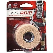 """Self-Grip Self-Adhering Athletic Tape Bandage, 1"""" Beige, Pack of 3"""