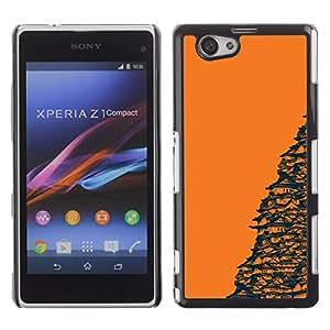 Templo Naranja japonesa OYAYO Xperia Z1 Compact D5503 //Dise?os frescos para todos los gustos! Top muesca protección para su teléfono inteligente!