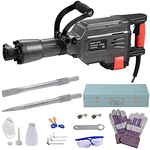 Electronic Demolition Hammer Jackhammer Kit w/ Case (2400W) by ShopOC