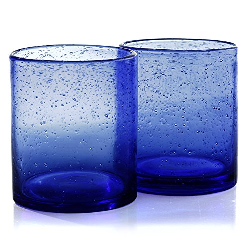 Artland Iris Double Old Fashioned Glasses, Cobalt Blue, Set of 4 -