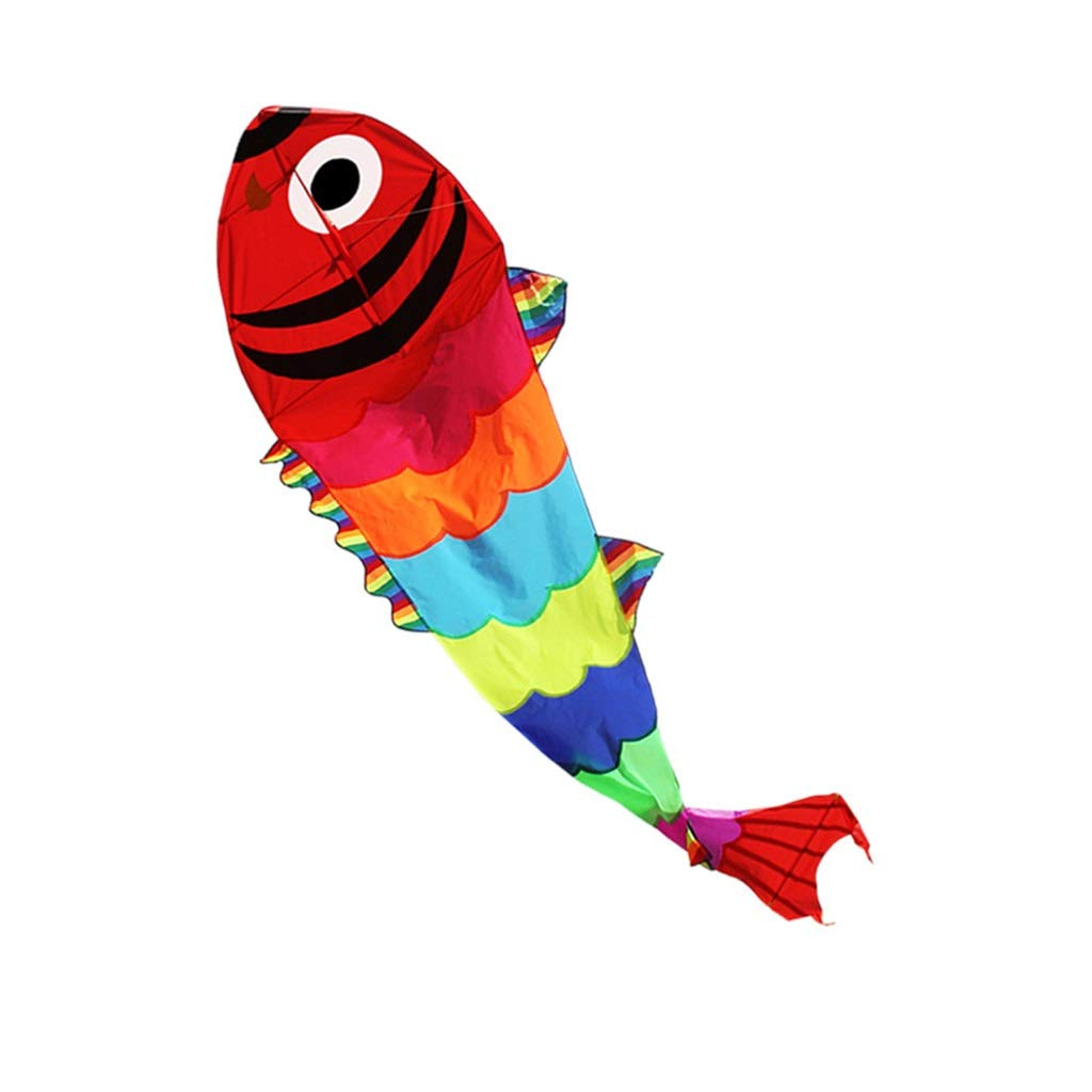 屋外の凧、多彩な金魚の形のそよ風は容易に大人の凧公園の大きい子供のおもちゃの凧、1.15 * 4Mを飛ばします (サイズ さいず : 1.15*4M) B07NQ3B561  1.15*4M