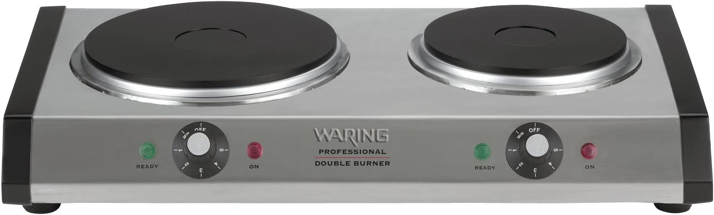 Waring Commercial WDB600 Heavy-Duty Commercial Cast-Iron Double Burner