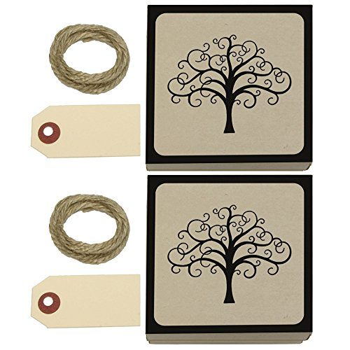 Tree of Life Kraft Gift Boxes Set of 2