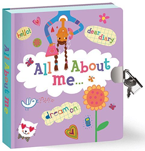 Peaceable Kingdom All About Me Diary 6.25' Lock and Key, Lined Page Diary for...