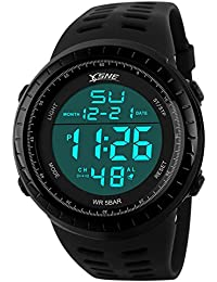 Digital Sports Watch Water Resistant Outdoor Easy Read...
