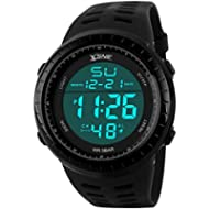 Digital Sports Watch Water Resistant Outdoor Easy Read Military Back Light Black Big Face Men's...
