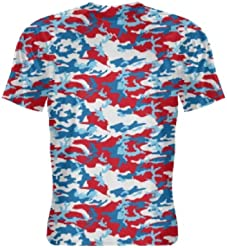 76004a1143 Red White Blue Camouflage Print Short Sleeve Shirt - Red White Blue  Camouflage Shirts - Red