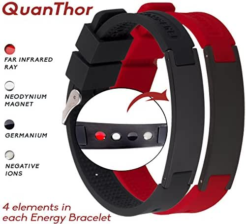 Anti EMF Radiation Protection Bracelet 4 in 1 | Negative Ions 1200, Germanium, Far Infrared and Neodymium Magnet 1500 Gauss | Arthritis Pain.Carpal Tunnel.Strengthen Immunity.Migraines