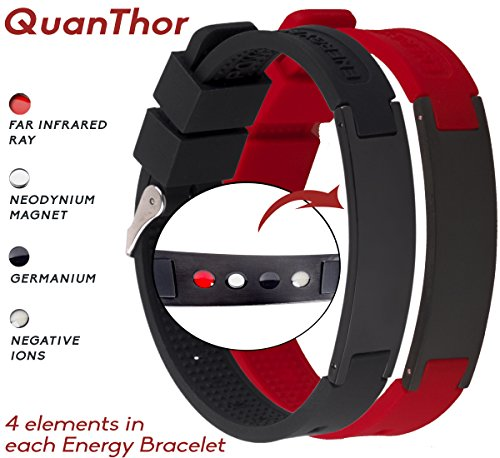 Anti EMF Radiation Protection Bracelet 4 in 1 | Negative Ions 1200, Germanium, Far Infrared and Neodymium Magnet 1500 Gauss | Arthritis Pain.Carpal Tunnel.Strengthen Immunity.Migraines ()
