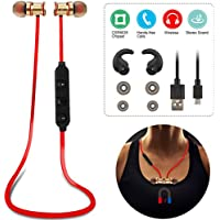 【Bluetooth/Wireless】KOCASO Sport HD [Stereo] Sound W/ Bass Earbuds. Built-In Noise-Cancelling Mic, Hands Free Calling, Secure Fit, Sweatproof BEST Earphone Headset for Gym Running Workout [UPGRADED]
