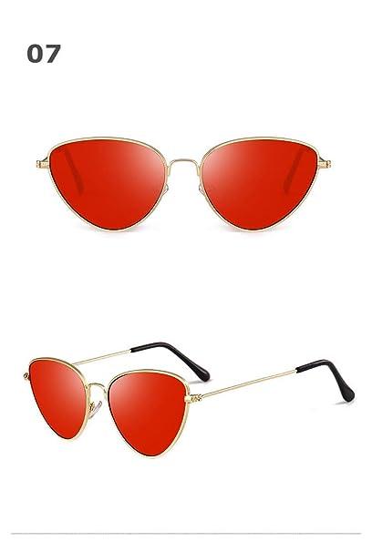 Amazon.com: YLNJYJ Moda Gafas De Sol De Ojo De Gato Rojo ...