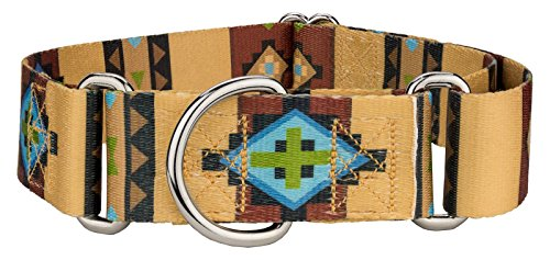 Country Brook Design | 1 1/2 Inch Native Arizona Martingale Dog Collar - Medium by Country Brook Design