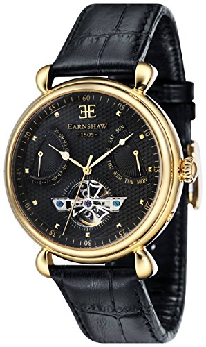 Thomas Earnshaw Womens The Grand Calendar Watch - Black/Gold