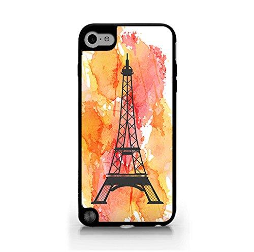 Paris iPod Touch 5 Case - Paris Design, Watercolor background - Vintage Retro Style - Patterned - Hard Plastic, Protective Black Case, Dust and Scratch Proof for iPod Touch 5 (Ipod 5 Water Case Design)