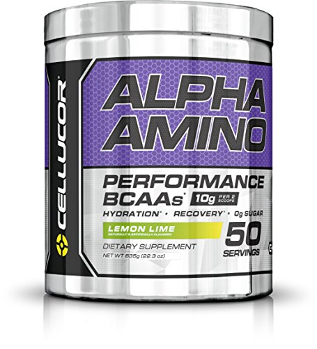 Cellucor Alpha Amino Performance BCAA Powder, BCAAs & Essential Amino Acids for Recovery, Lemon Lime, 50 (Acid Lemon)