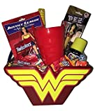 Wonder Woman Superhero Easter Basket Gift Bundle Pack in keepsake basket action figures candy pez cup bubble wand ~FAST SHIPPING USA SELLER~