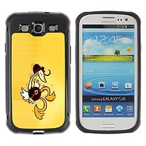 KEIZZ Cases / Samsung Galaxy S3 I9300 / Western Dancing Duck - Funny / Robusto Prueba de choques Caso Billetera cubierta Shell Armor Funda Case Cover Slim Armor