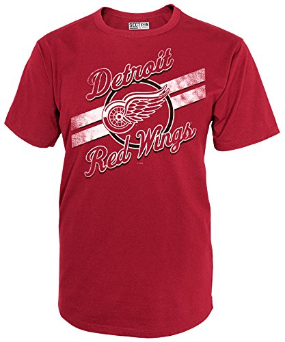 NHL Detroit Red Wings National Hockey League Short Sleeve Tee, Large, Athletic Red