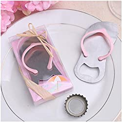 "24pcs Special""pop the Top"" Flip-flop Bottle Opener for Wedding Favors-Set of 24 (24, Pink)"