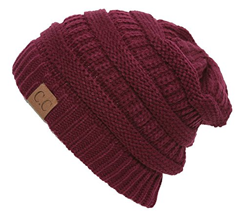 C.C Womens Thick Soft Knit Beanie Cap Hat