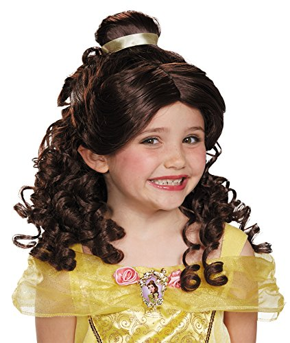 [UHC Girl's Beauty Beast Belle Wig Princess Theme Party Child Costume Accessory] (Belle Wigs)