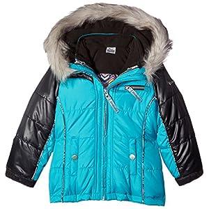 London Fog Little Girls' 4 Ways-To-Wear Systems Jacket Coat, Turquoise, 5/6