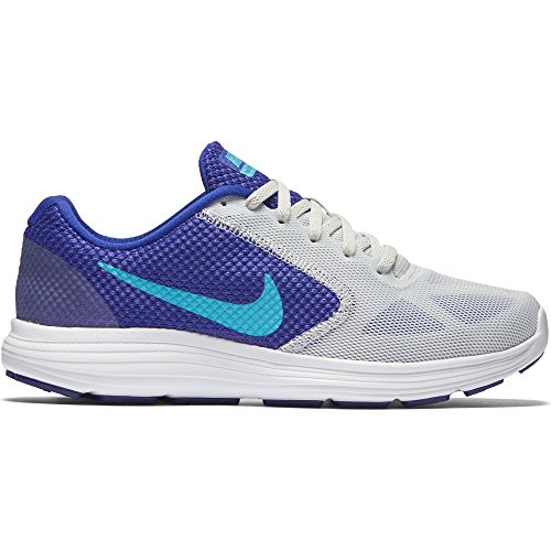 NIKE Women's Revolution 3 Running Shoe, PURE PLATINUM/CONCORD/PERSIAN VIOLET/GAMMA, 6.5 B(M) - The Concord Mall