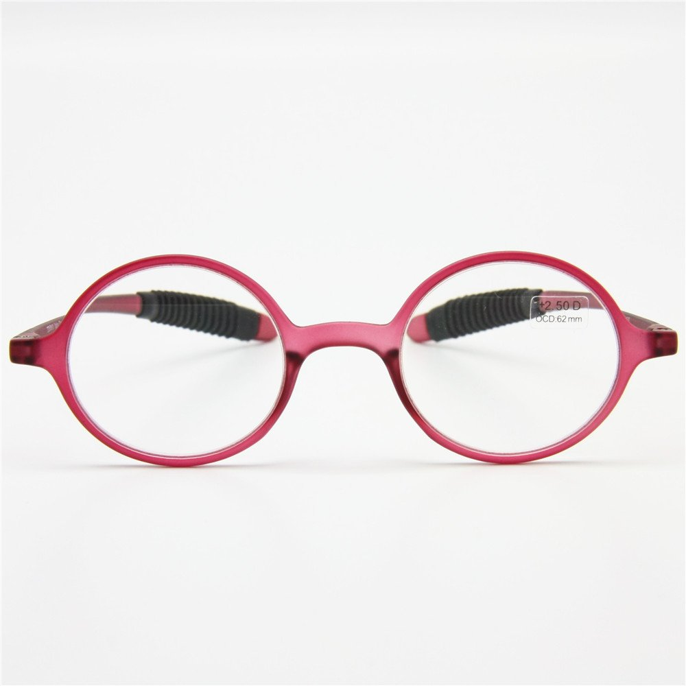 55722a1f118 Amazon.com  EnzoDate Flexible Retro Reading Glasses +1.0 to +3.5 ...