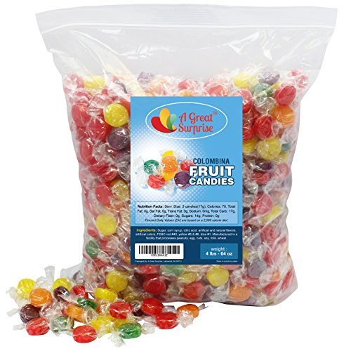 Fruit Flavored Hard Candy - Colombina Hard Candy, 4 LB Bulk Candy - Flavored Hard Candy
