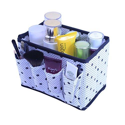 (Large Capacity Foldable Multifunction Make up Cosmetics Storage Box Container Bag Case Dresser Desktop Cosmetic Organizer)