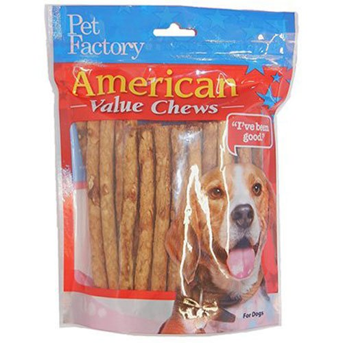 American Rawhide Chicken Rawhide (PET FACTORY 28750 Chicken Dog Roll, 40-Pack)