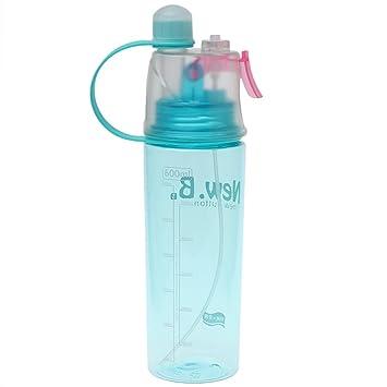 lpyfgtp Botella de Agua portátil de 600 ML Creativa para Deportes de Agua Botella de Agua