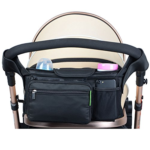 Uigos Baby Stroller Organizer for Smart Moms Best Bag Console City  Vista Accessories Cup Holder Universal Caddy (Replacement Strap Stroller)