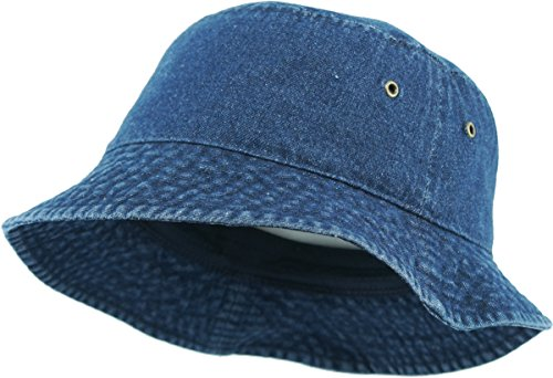 KB-BUCKET1 DDM The Go-to Bucket Hat for OUTDOOR Activities, (Solid)Dark Denim, One Size (Blue Denim Bucket Hat)
